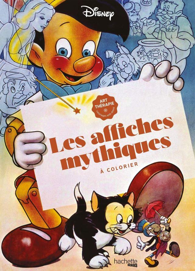 Grand bloc Disney Les affiches mythiques à colorier Broché