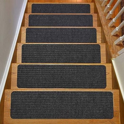 Amazon Com Rugstylesonline Stair Treads Collection Indoor Skid   Amazon Outdoor Stair Treads   Non Slip   Self Adhesive   Mat   Treads Carpet   Indoor Outdoor
