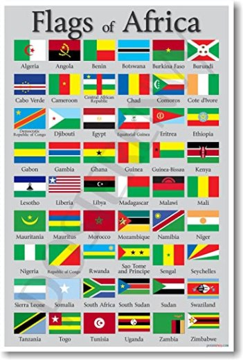 Amazon.com: Flags of Africa - NEW World Travel Poster: PosterEnvy ...