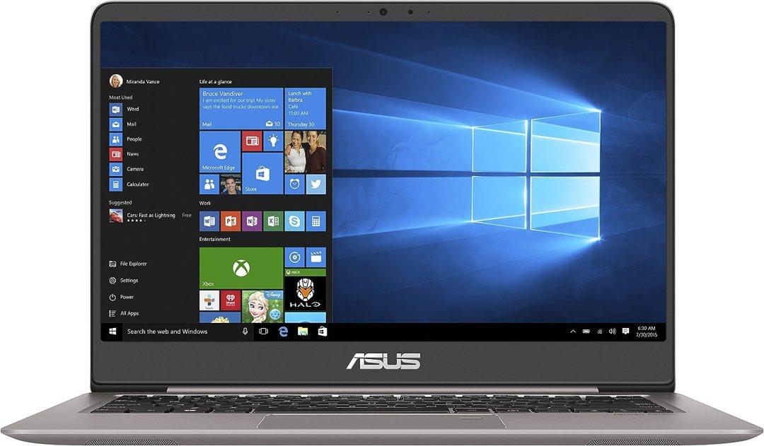 "Asus Zenbook UX410UA-GV410T Ultrabook 14"" Full HD Gris (Intel Core i7, 8 Go de RAM, SSD 256 Go, Windows 10) Clavier AZERTY Français"