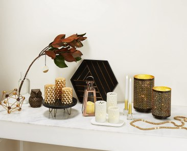 flameless candles   gold