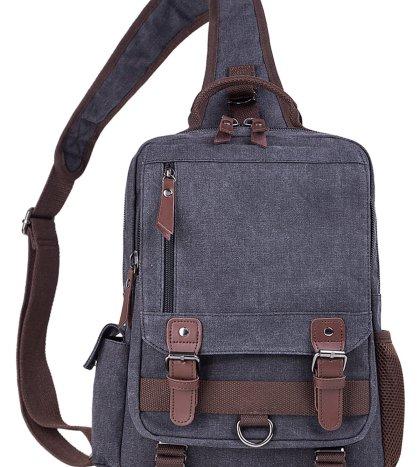 El-fmly Canvas Messenger Sling Bag Crossbody Shoulder Backpack Outdoor  Sport Bag 153449e5cdb34