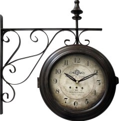 Yosemite Home Decor Double Sided Station Wall Clock