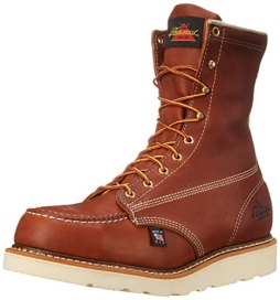 "Thorogood Heritage 8"" Safety Toe Work Boot, Tobacco Oil Tanned, 9.5 D US"