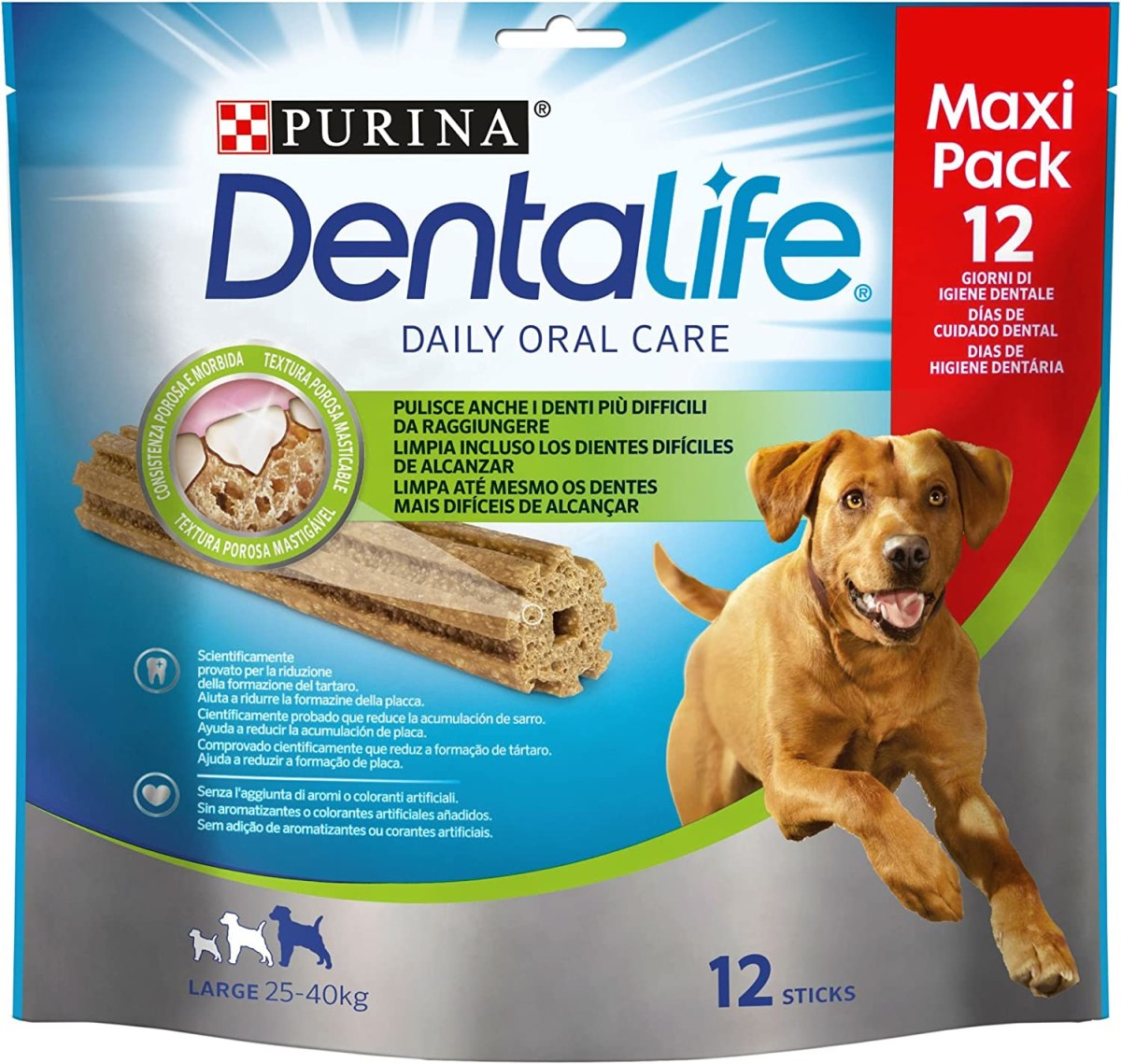 Purina Dentalife Perro Grande [5 packs x 12 sticks]