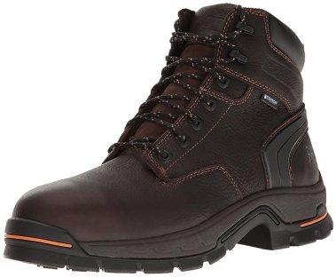 "Timberland PRO Men's Stockdale 6"" Alloy Toe Waterproof Industrial & Construction Shoe, Brown Full Grain Leather, 13 M US"