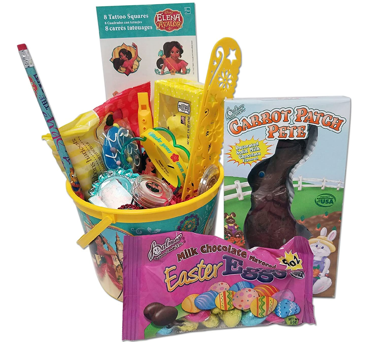 Disney Princess Elena of Avalor Easter Basket Stuffers for Girls with Toys and Treats Great for Toddlers and Girls ages 3-7 over 20 Items