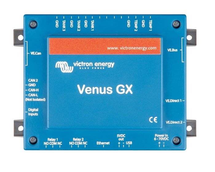Amazon.com: Victron Venus GX The systems control unit on the boat – allows us to connect from anywhere in the world to remote in and control the electrical system.