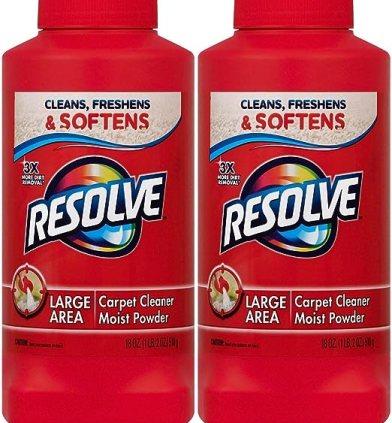 Resolve Carpet Cleaner Moist Powder, 18 Ounce (Pack of 2)