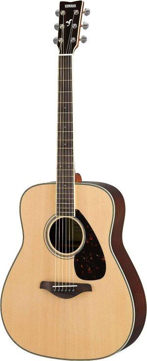 Yamaha FG830 Solid Top Acoustic Guitar, Natural