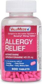 ValuMeds Allergy Medicine (600 Tablets) Antihistamine
