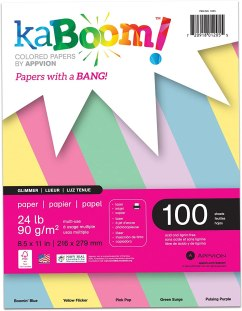 Kaboom Glimmer Pastel Assorted Colored Paper