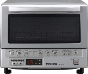 Panasonic FlashXpress Compact Toaster Oven with Double Infrared Heating, Crumb Tray and 1300 Watts of Cooking Power - 4 Slice Countertop Toaster Oven
