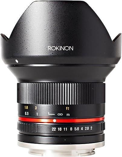 Rokinon RK12M-FX 12mm F2.0 NCS CS Ultra Wide Angle Lens for Fuji X Mount Digital Cameras, Black