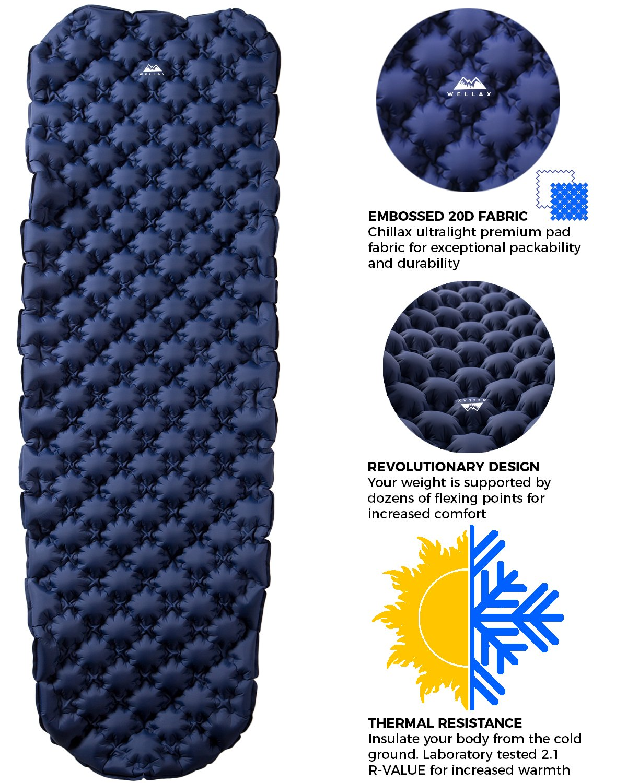 WELLAX Ultralight Air Sleeping Pad