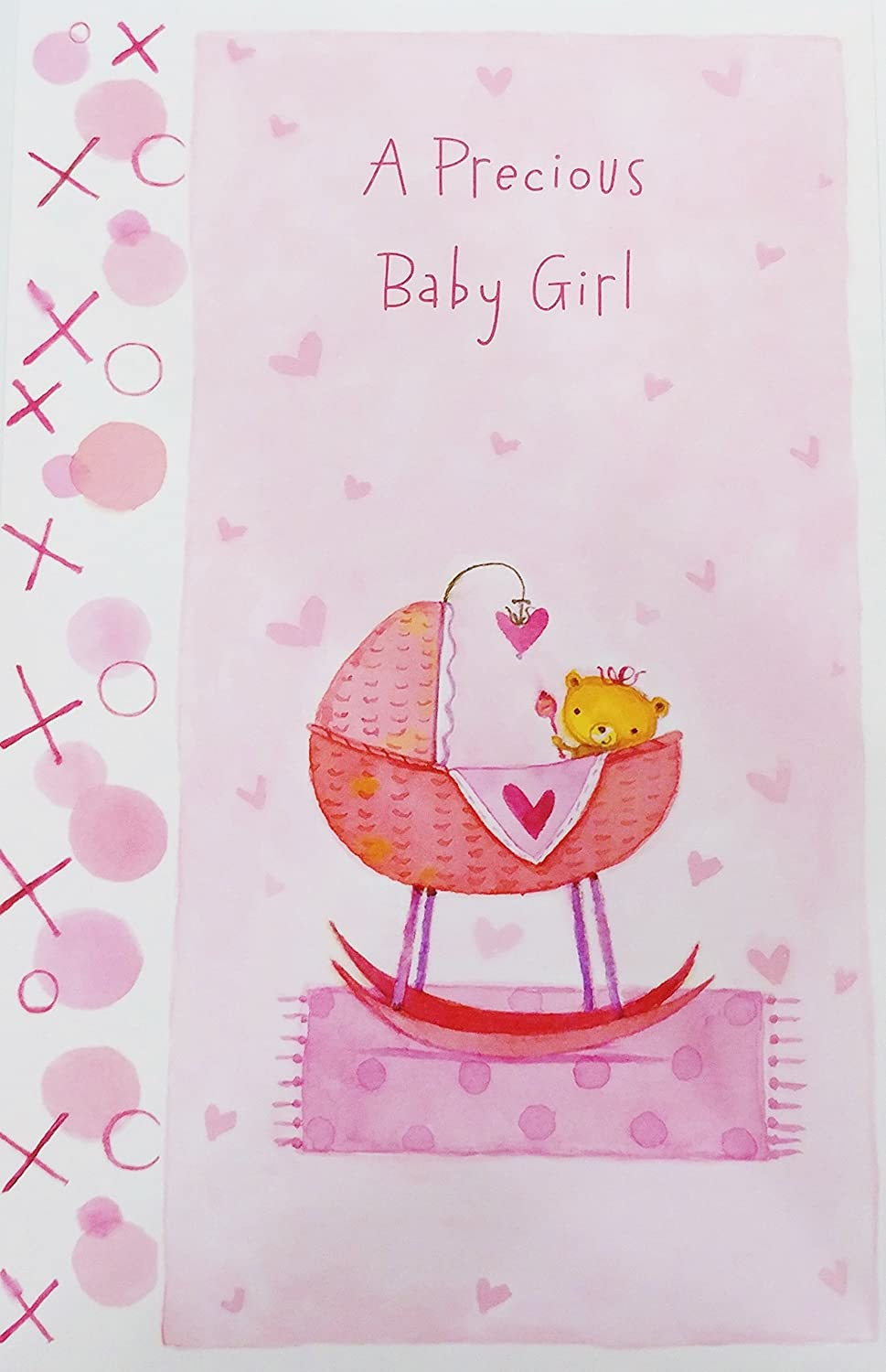 Amazon Com A Precious Baby Girl Congratulations New Daughter Birth Greeting Card Wishing You And Baby Much Love And Every Happiness Office Products