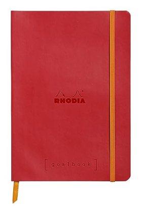 Clairefontaine Rhodiarama GoalBook carnet 240 pages numérotées ivoire dot à points A5 90 g Rouge coquelicot