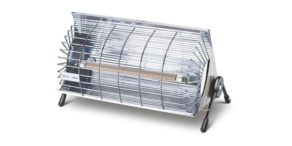 Bajaj Minor 1000 Watts Radiant Room Heater (Steel)