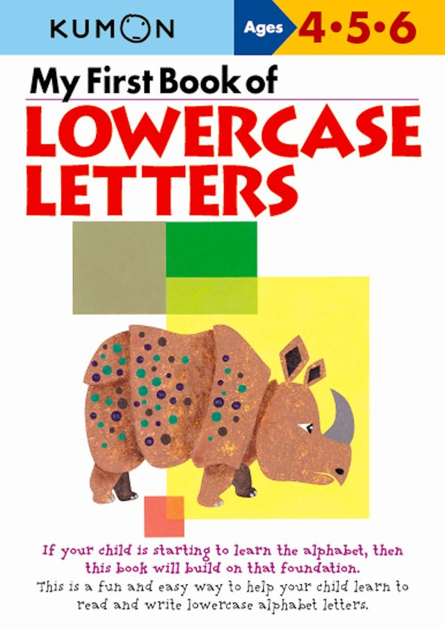 My First Book of Lowercase Letters : Kumon Publishing: Amazon.de