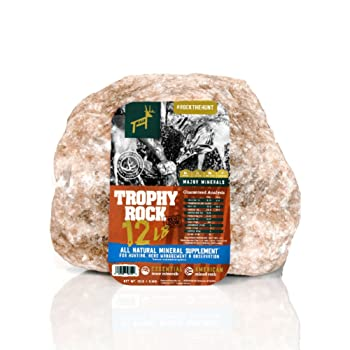 Trophy Rock - All-natural Mineral Rock/Salt Lick - Attract Deer and Big Game