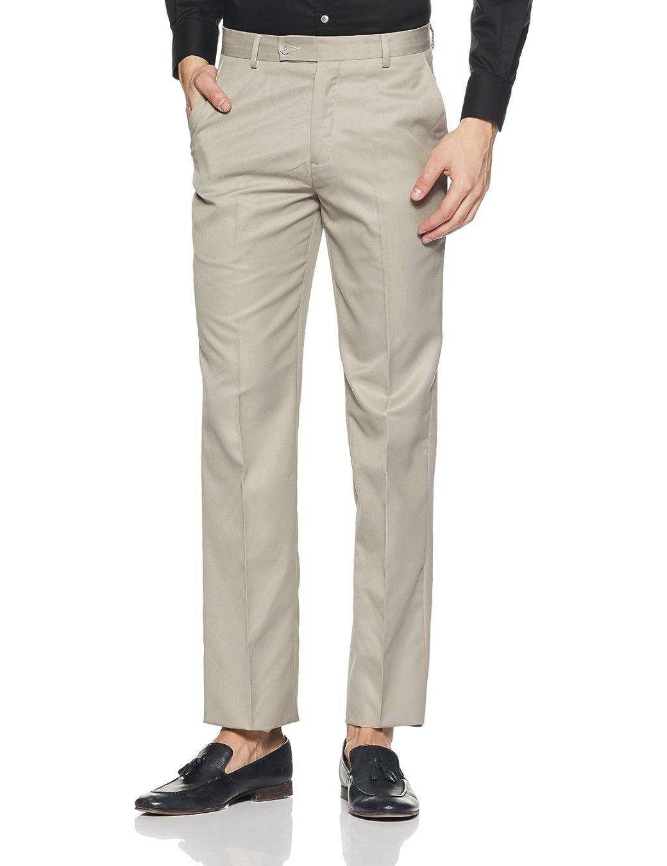 Image result for Beige Solid Color Trousers john miller