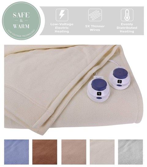SoftHeat Luxury Micro-Fleece Electric Heated Blanket Black Friday Deals