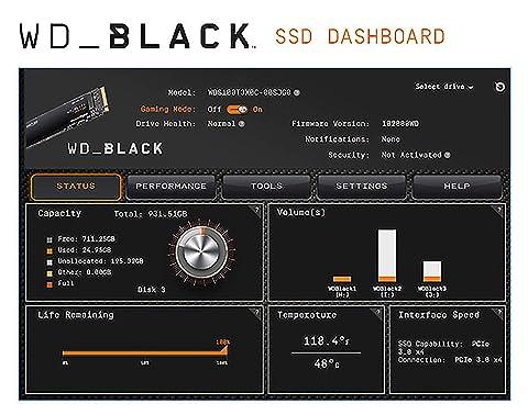 Western Digital Western Digital M.2 SSD WD BLACK SN750 DASHBOARD