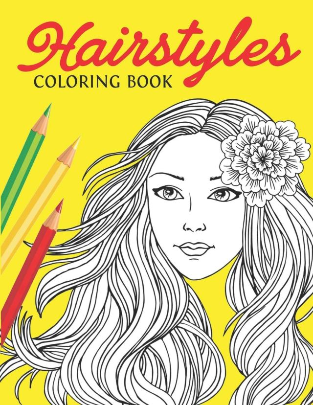 Hairstyles Coloring Book: Fashion Faces and Amazing Hair Style