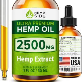 Hemp Oil Drops for Stress & Anxiety Relief – Tested and Verified Hemp Oil – Ultimate Hemp Power – Grown & Made in USA – Anti Inflammatory Formulation – Joint Support – Omega 3, 6 & 9.