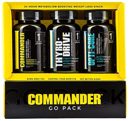 COMMANDER GO PACK Weight Loss System • 30 Day Supply: #1 Best Fat Burner and Metabolism Booster - Burn Fat and Lose Weight Fast With The Most Effective Fat Burner Available - Best Weight Loss Pills