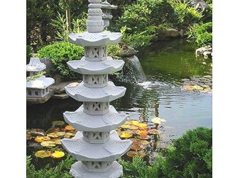japanische gartendeko pagode  stöckig japanische steinlaterne