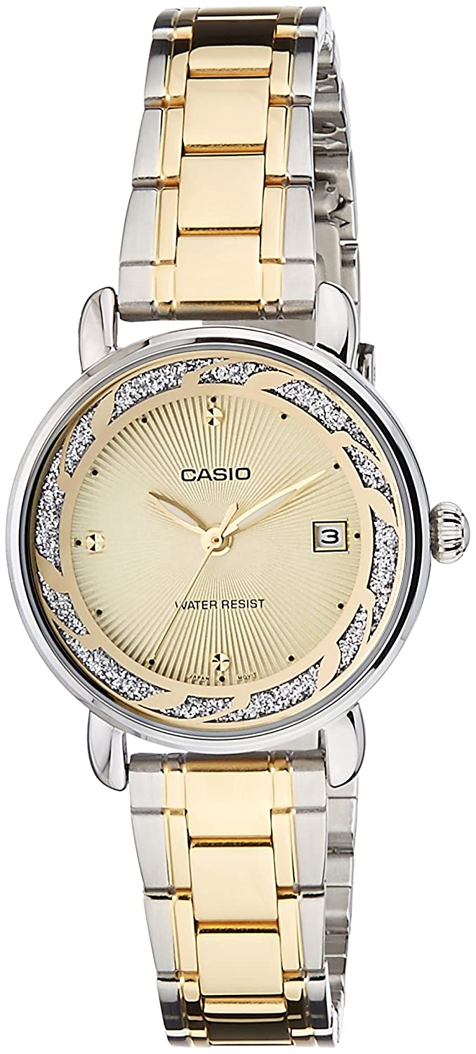 Casio Enticer Analog Gold Dial Women's Watch