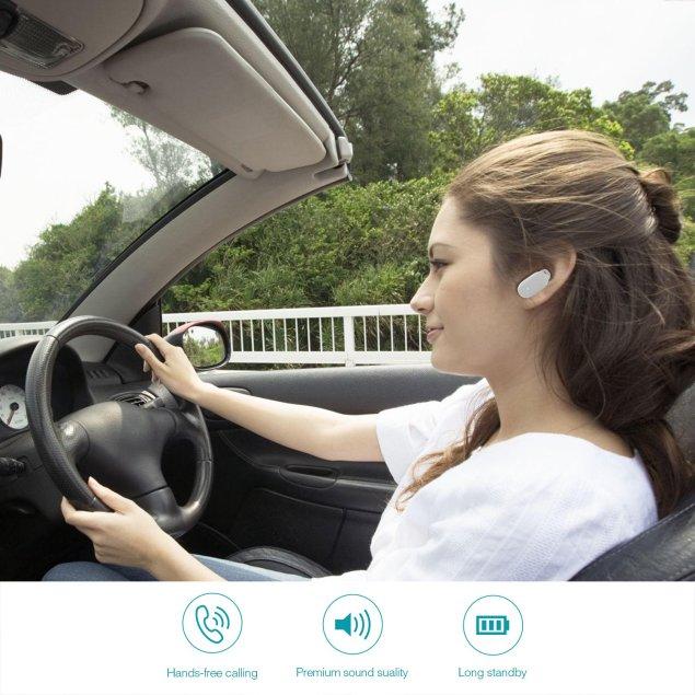dodocool デュアルUSBカーチャージャー 2ポート(5V/2.4A或いは5V/1A) ワイヤレス式Bluetooth4.1ヘッドセット HDマイクハンズフリーイヤホン