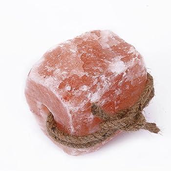 HijiNa Animal Licking Himalayan Pink Salt Lick-100% Natural Pure Salt Block on Rope for Deer