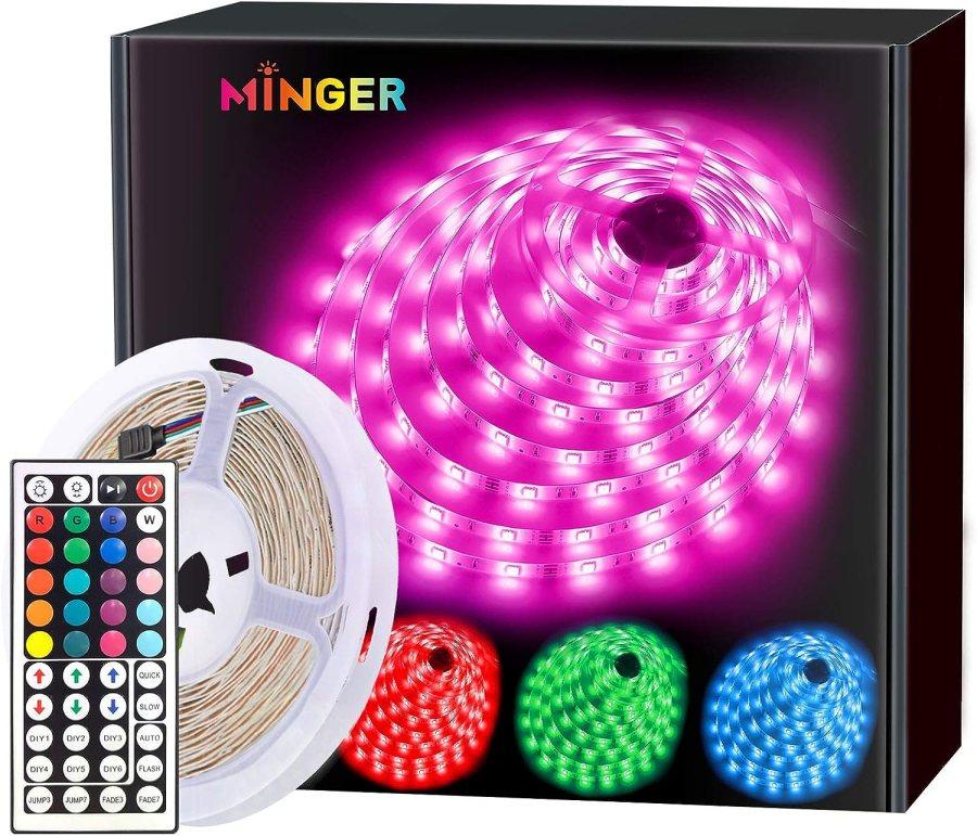 MINGER LED Strip Lights 16.4ft