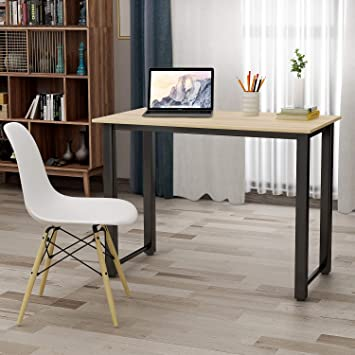 Amazon Com 47 Writing Desk Table Workstation For Home Office Oak Furniture Decor