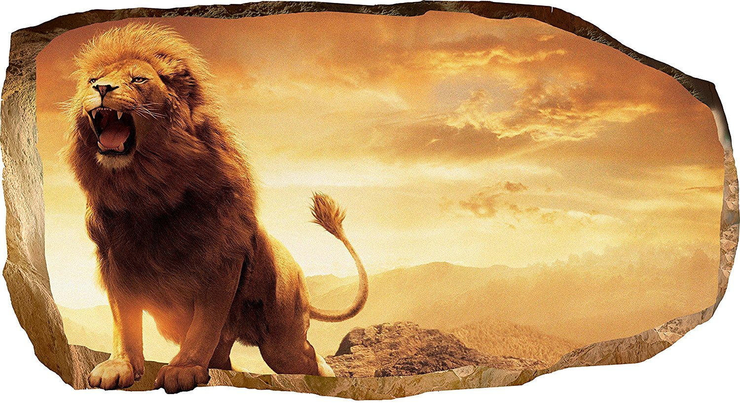 Powerful, Captivating and Majestic Lion Wall Art - Animal Wall Decor