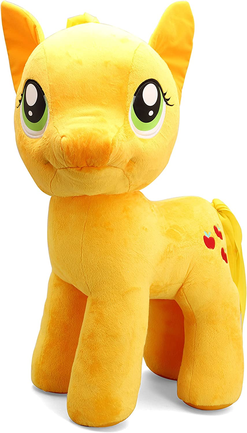 Amazon Com My Little Pony 20 Applejack Plush Toy Yellow Toys Games
