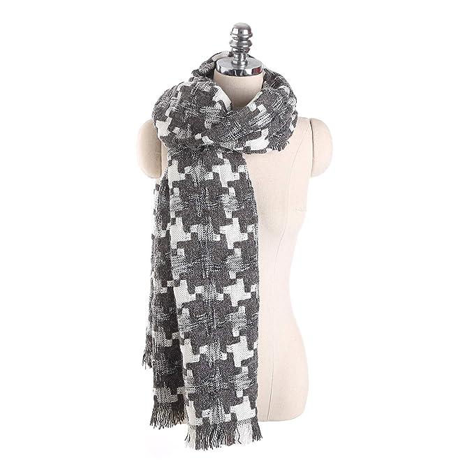 BONJEAN super soft houndstooth blanket scarf, pamper yourself
