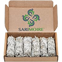 "White Sage Smudge Sticks - 6-4"" Sage Bundles - Perfect Sage Stick Smudge Sticks Smudging Kit Replenishment"