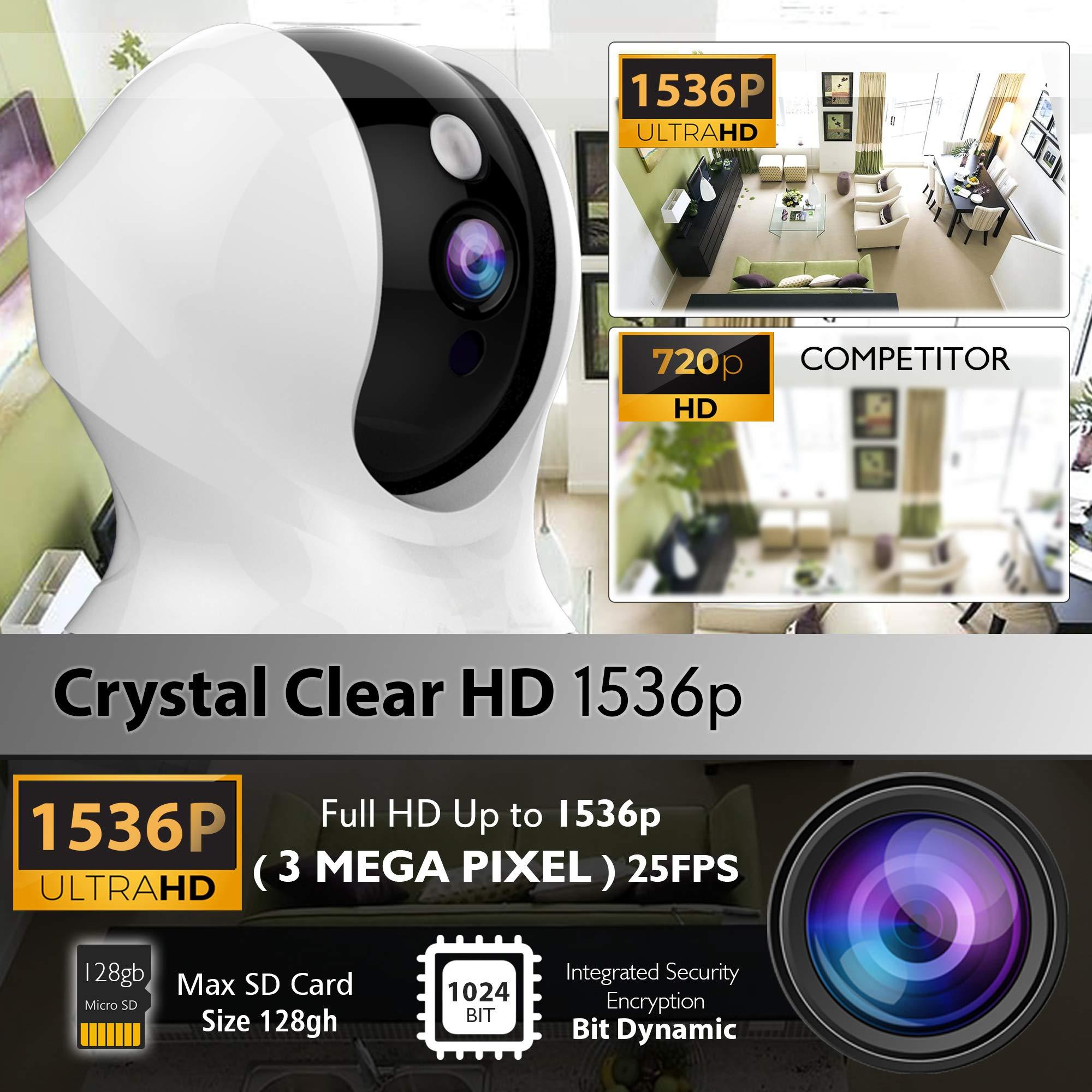Alexa Compatible Indoor IP Camera - Auto PTZ Smart Tracking