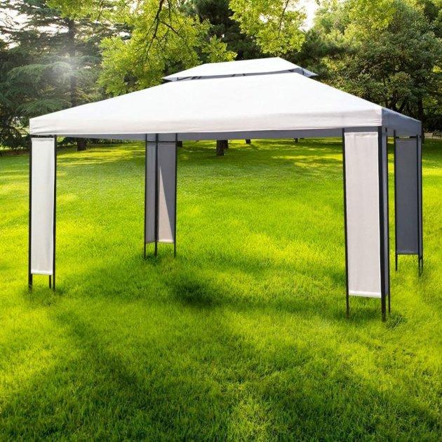 vidaXL Garten Pavillon Pavillion Gartenpavillon Gazebo 3x4m Festzelt Gartenzelt NEU 2 von vidaXL