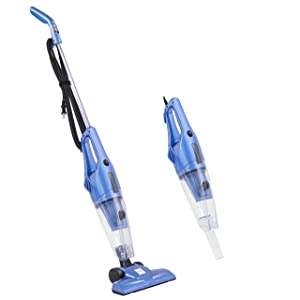 Best Choice Products 600W 2-IN-1 Upright Stick And Handheld Vacuum Cleaner W/ HEPA Filtration, Crevice Tool- Blue