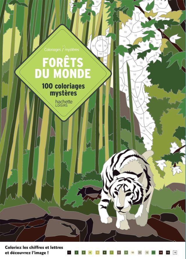 Coloriages mystères Forêts du monde: 29 coloriages mystères