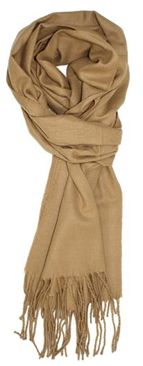 Ted and Jack - A Classic Staple Solid Cashmere Feel Scarf in Tan
