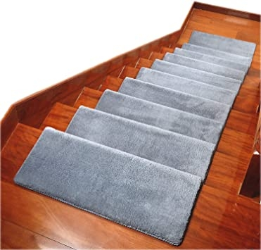 Carpet Stair Treads Anti Slip Stair Mats Made Of Cotton And Fiber   Stick On Carpet Stair Treads   Bc Canada Treads   Replacement   Stain Resistant   Carpet Classic   Dark Grey Grey