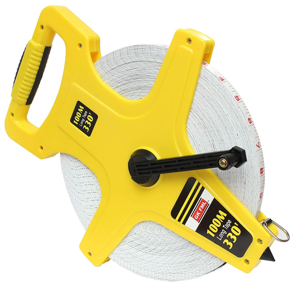 Freemans Measures Abs Case Open Reel Fiber Measuring Tape, 100 Meter, Multicolour. One of the Best quality Measuring Tape