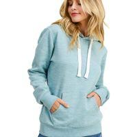 esstive Women's Basic Ultra Soft Fleece Solid Pullover Hoodie Sweatshirt