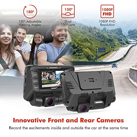 Pruveeo-C2-Dual-Dash-Cam-1920x1080P-Front-and-Rear-Car-Dashboard-Camera