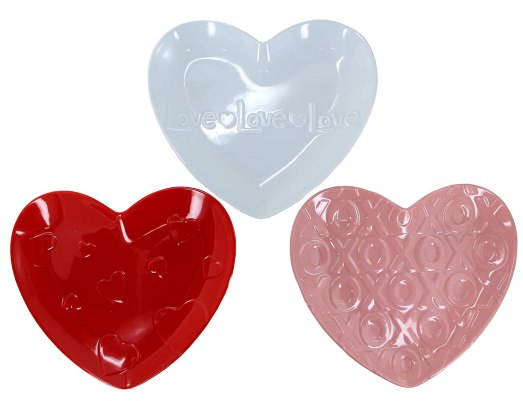 valentine's day ideas, heart plates